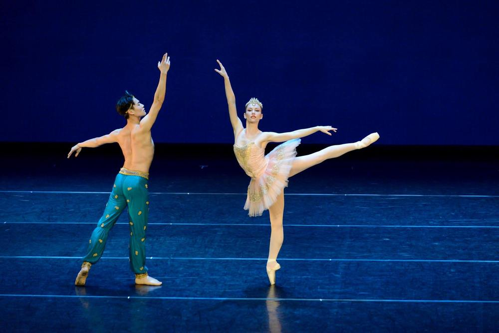 "Alexsandra Meijer and Zunyuan Gong in the Pas de Deux from ""Le Corsaire"""