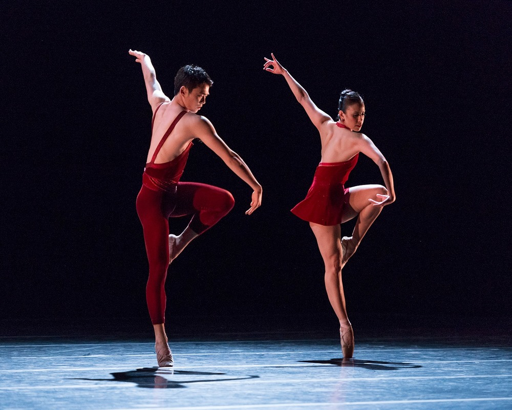Photo by Alejandro Gomez of Akira Takahashi and Amy Marie Briones in Jorma Elo's Glow Stop