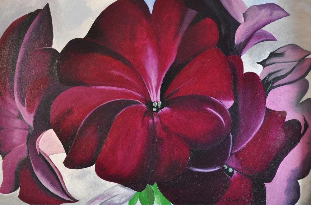 Purple Orchid (Georgia O'Keefe Copy)