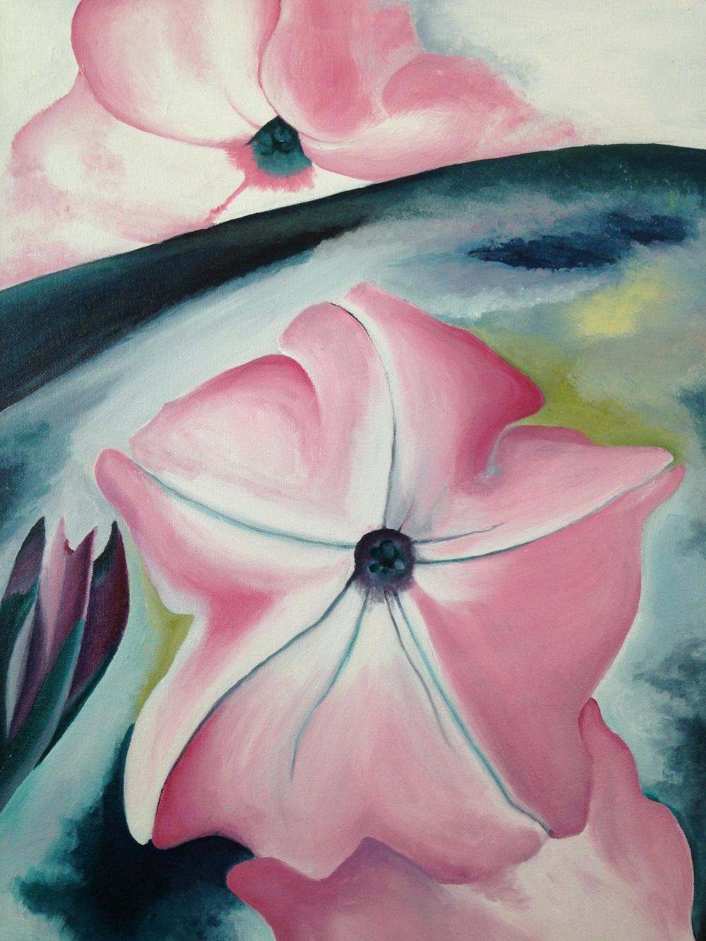 Georgia O'Keefe Copy (Pink Flower)