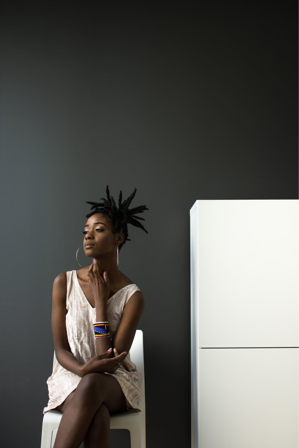 "NATURAL WOMEN  |  ""My locs are an extension of me! When I decided to loc my hair, I wanted something different, so I told the stylist to make them big and bold.....like myself! Now my only issue is overdosing on natural hair products, lol""  - @bellaliving  Photo: Adrina Nelson  #hairtestimonials #naturalhair #locs #dreadlocs #hairproducts #4chair"