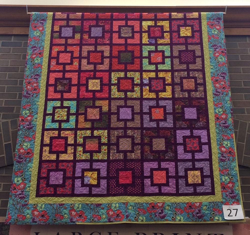 Jessica's Red-Violet Block in Block