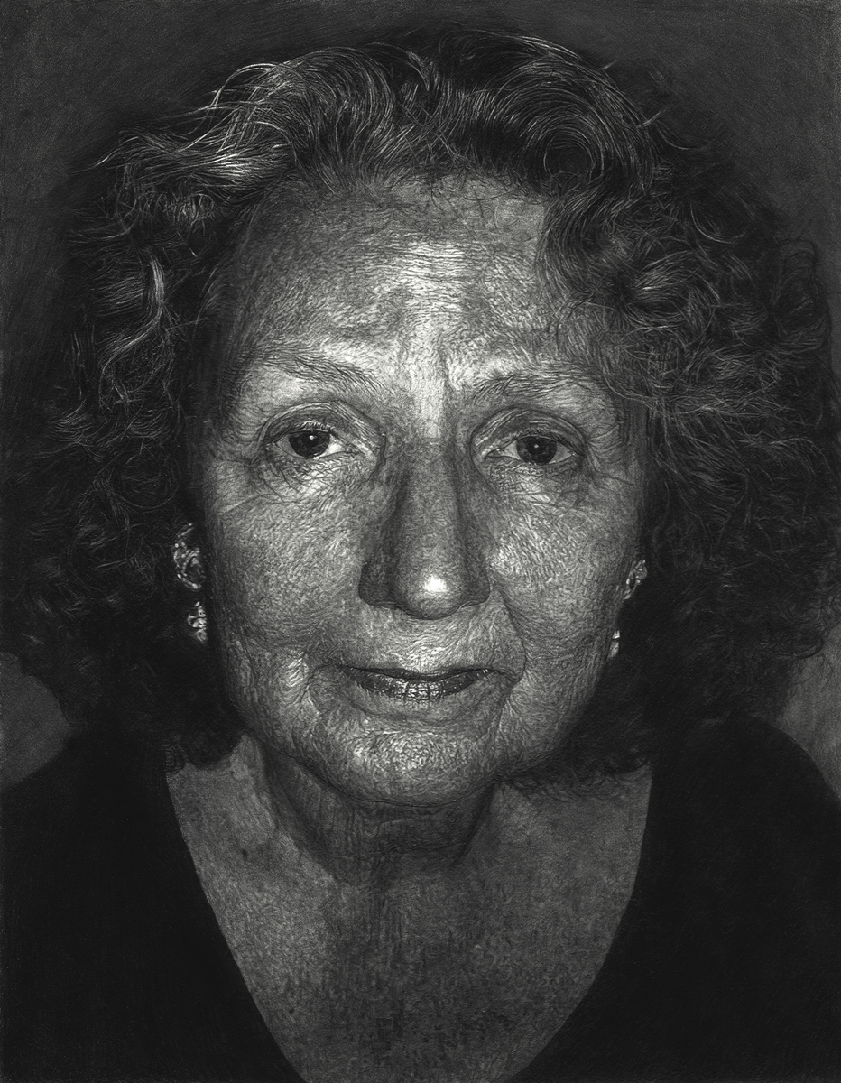 "Ruth Bly, pencil, 14"" x 11"" - by Bly Pope"