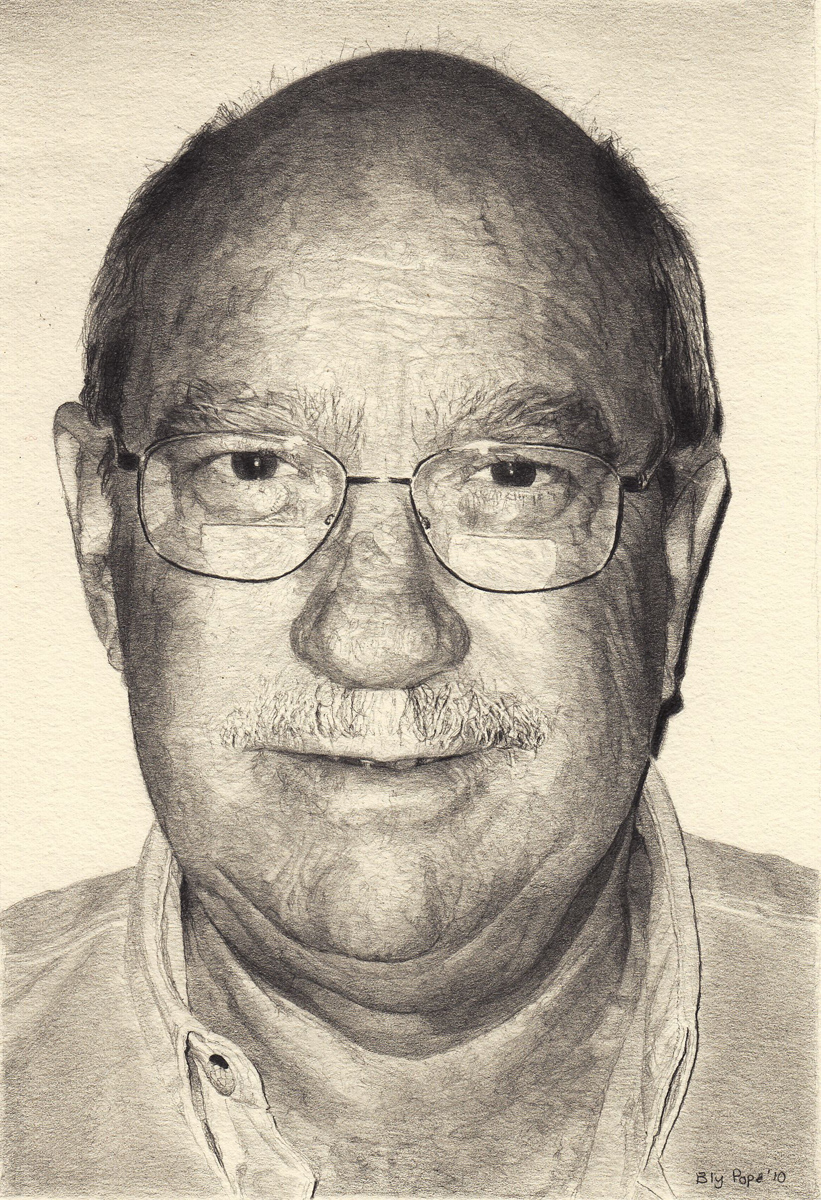 "Bill, pencil, 6"" x 4"" - by Bly Pope"