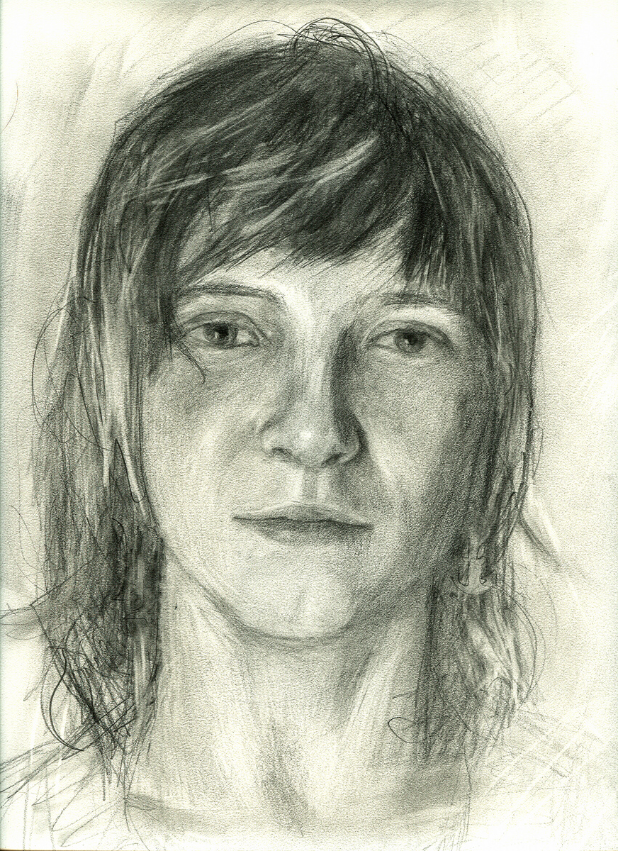 "Emily S, pencil, 12"" x 9"" - by Bly Pope"