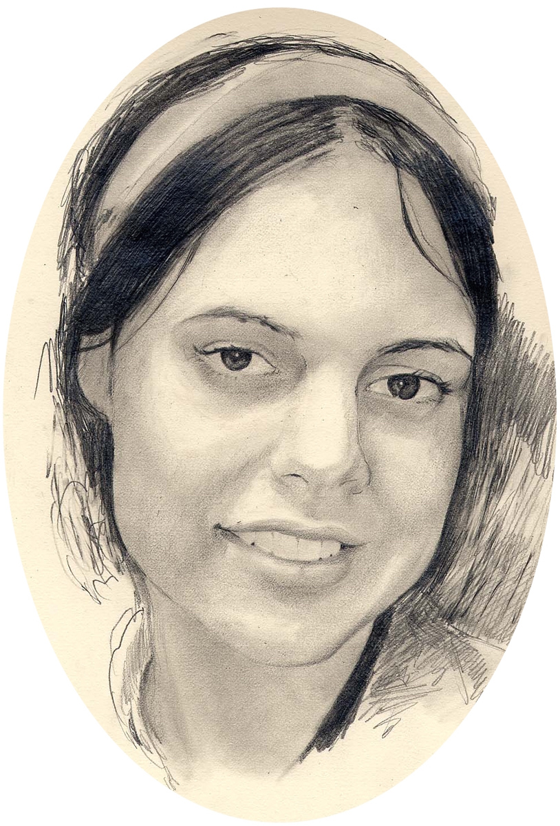 "Emily P, pencil, 12"" x 9"" - by Bly Pope"
