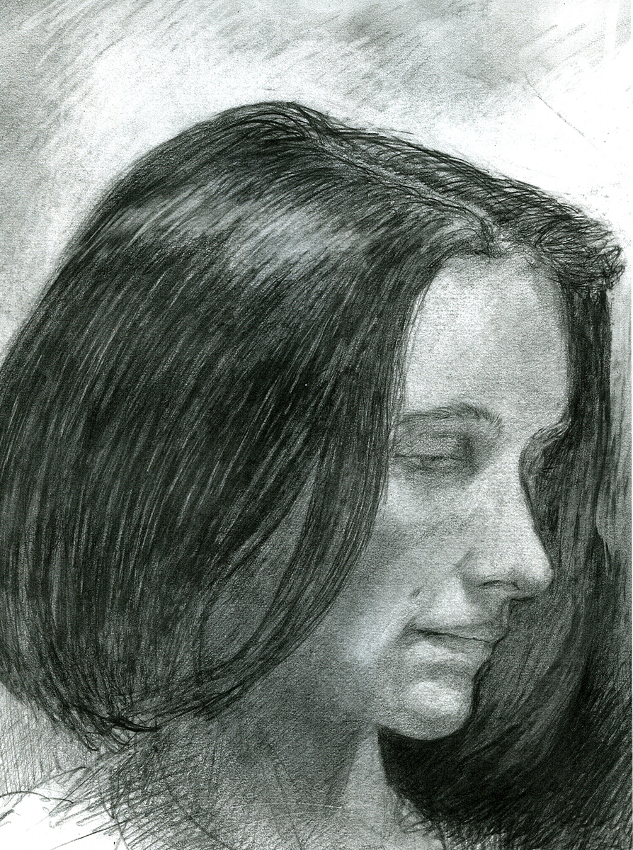 "Erin, pencil, 10"" x 8"" - by Bly Pope"