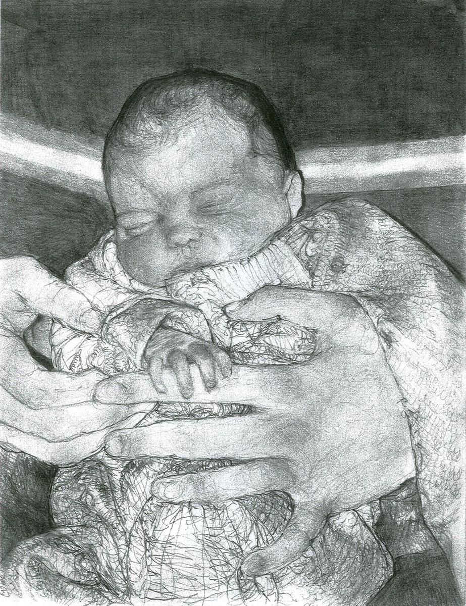 "Jayda, pencil, 11"" x 8"" - by Bly and Rowan Pope"