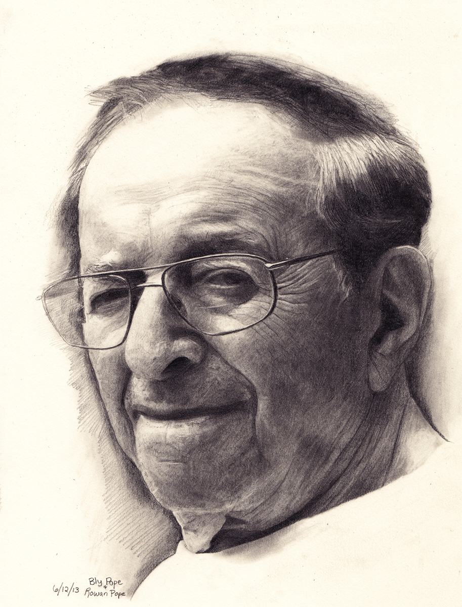 "Joe, pencil, 10"" x 8"" - by Bly and Rowan Pope"