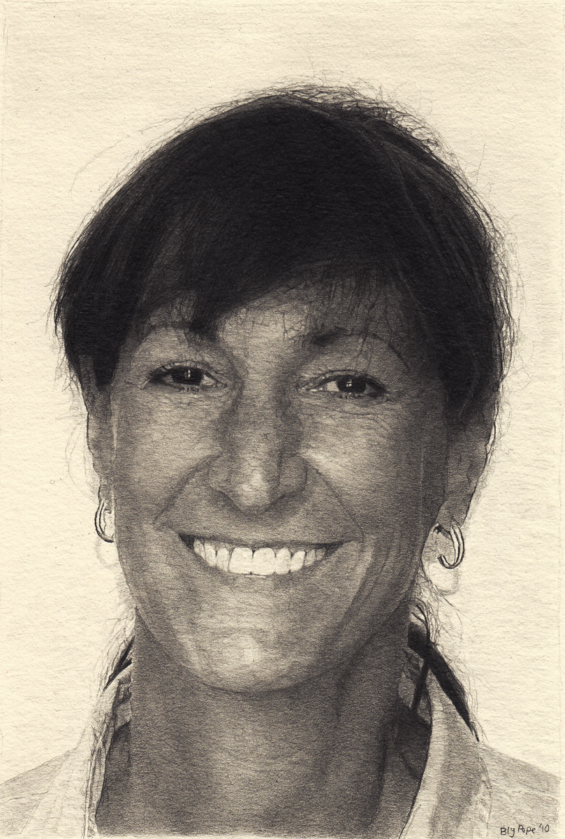 "Robin, pencil, 6"" x 4"" - by Bly Pope"