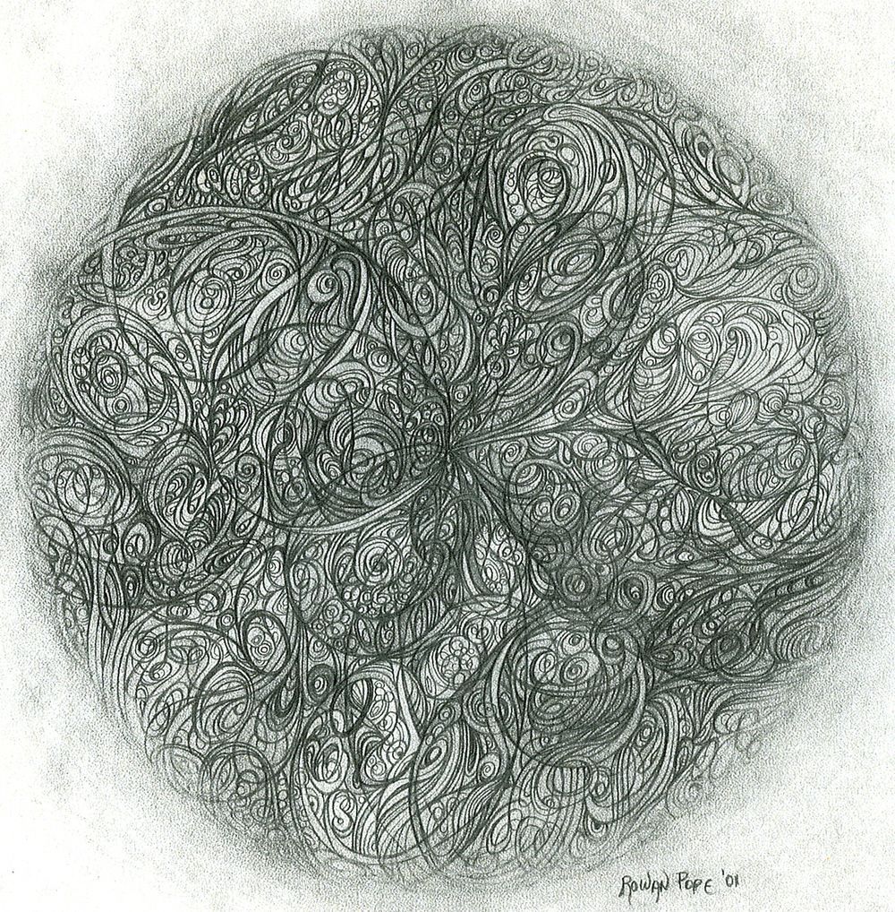 "Circle, pencil, 10"" x 10"" - by Rowan Pope"