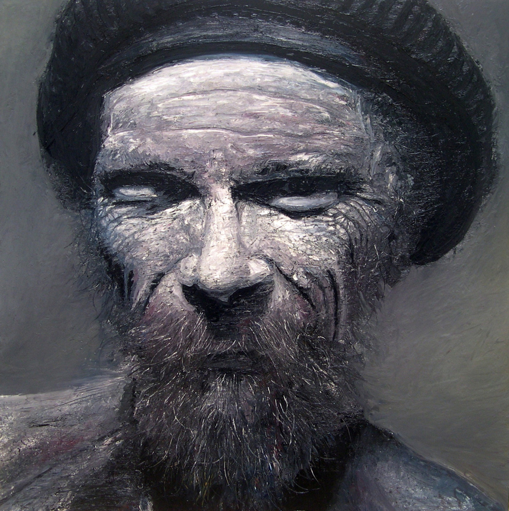 "Old Man, oil, 48"" x 48"" - by Bly Pope"
