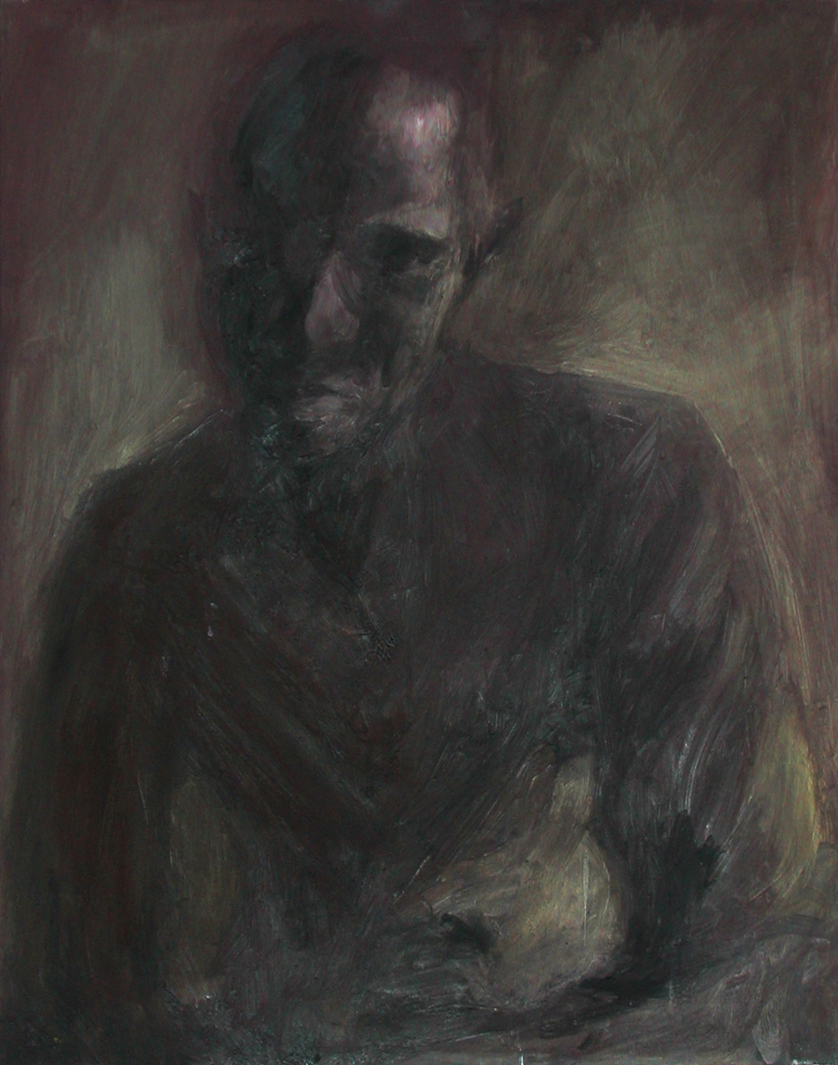 "Dark Figure, oil, 30"" x 24"" - by Bly Pope"