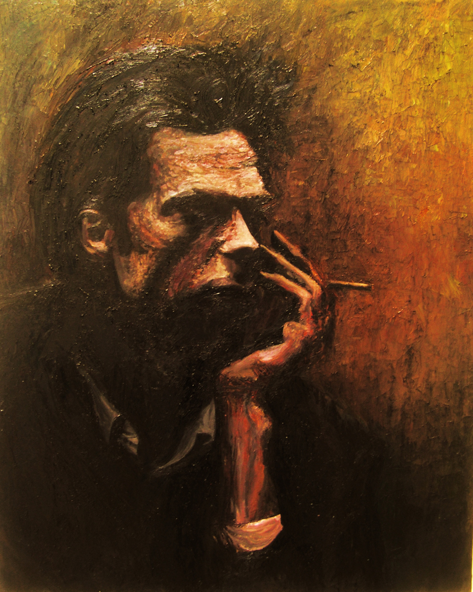 "Nick Cave 3, oil, 48"" x 36"" - by Bly Pope"