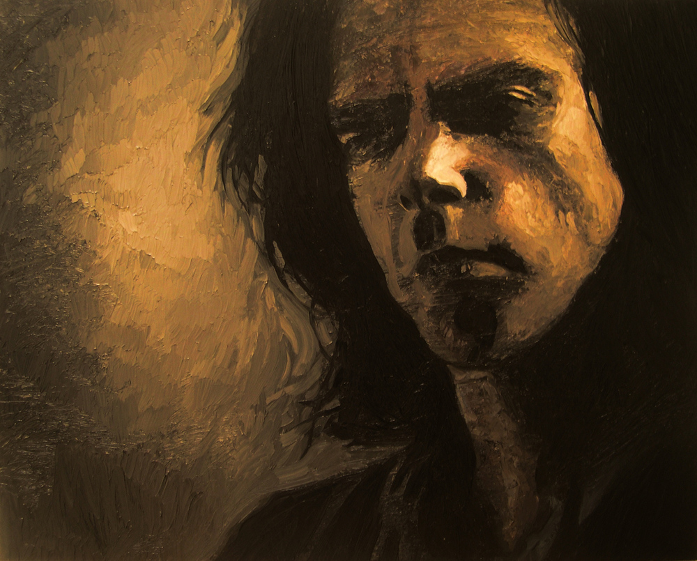 "Nick Cave 4, oil, 30"" x 24"" - by Bly Pope"