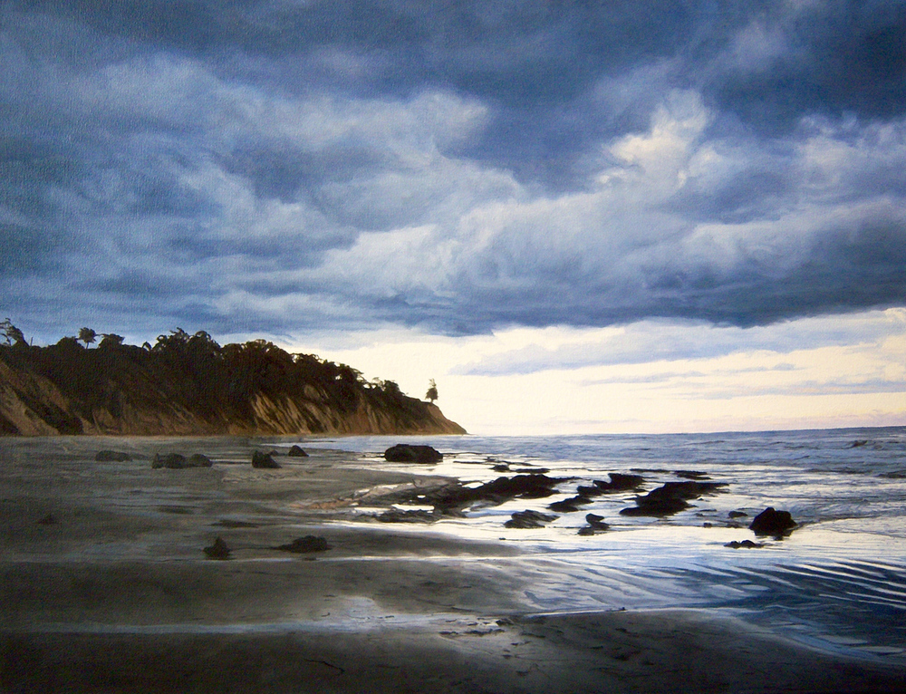 """California Seascape, oil, 26"""" x 34"""" - by Bly Pope"""