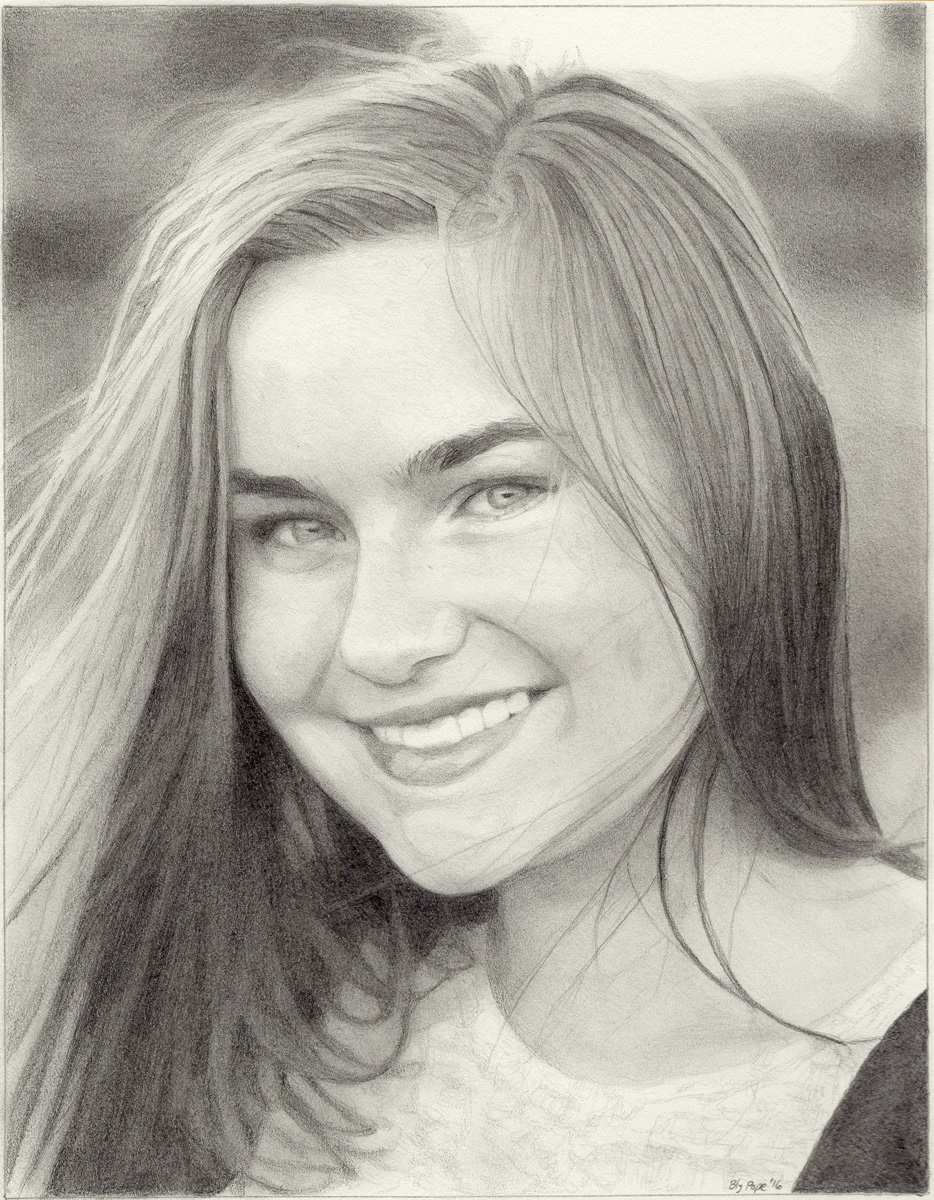 "Irene, pencil, 8"" x 6"" - by Bly Pope"