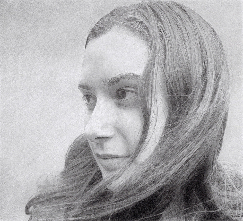 "Ivy, pencil, 8"" x 9"" - by Bly Pope"
