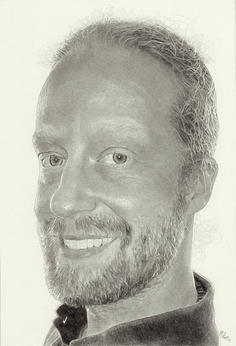 "Michael, pencil, 10"" x 6"" - by Bly Pope"