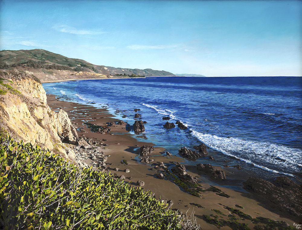 "Carpinteria, oil, 26"" x 34"" - by Rowan Pope"