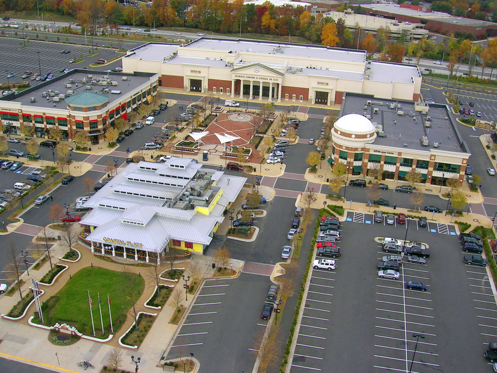 Fairfax Corner    Description: A large, mixed-use commercial and retail center near I-66.  Client(s): The Peterson Companies  Location: Fairfax County, Virginia  Size: 48 acres