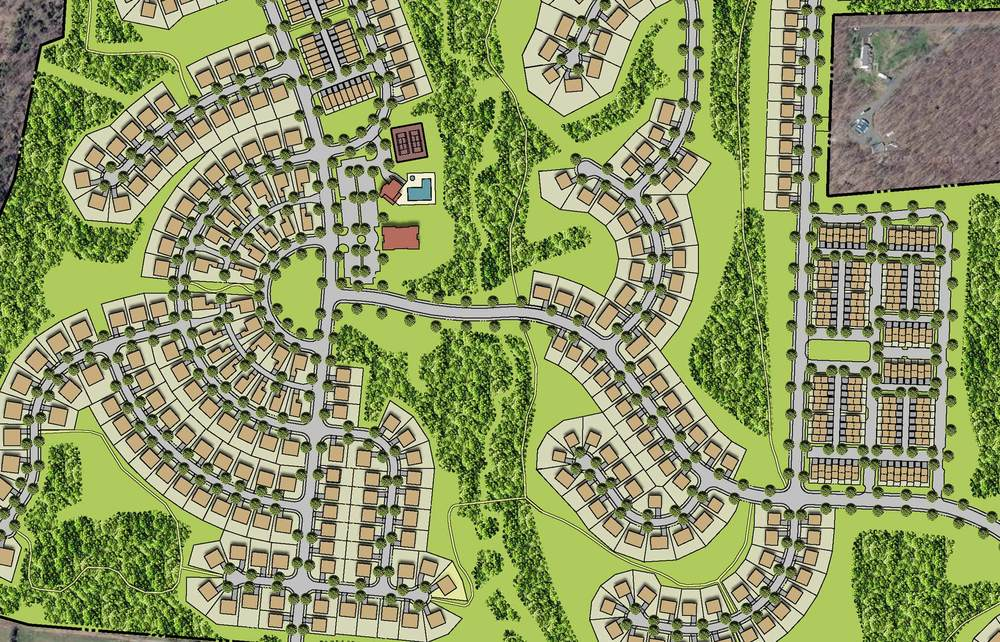 Seven Hills    Description: Large mixed-use development of residential, recreational and commercial space.  Client(s): Greenvest, LC  Location: Loudoun County, Virginia  Size: 465 acres