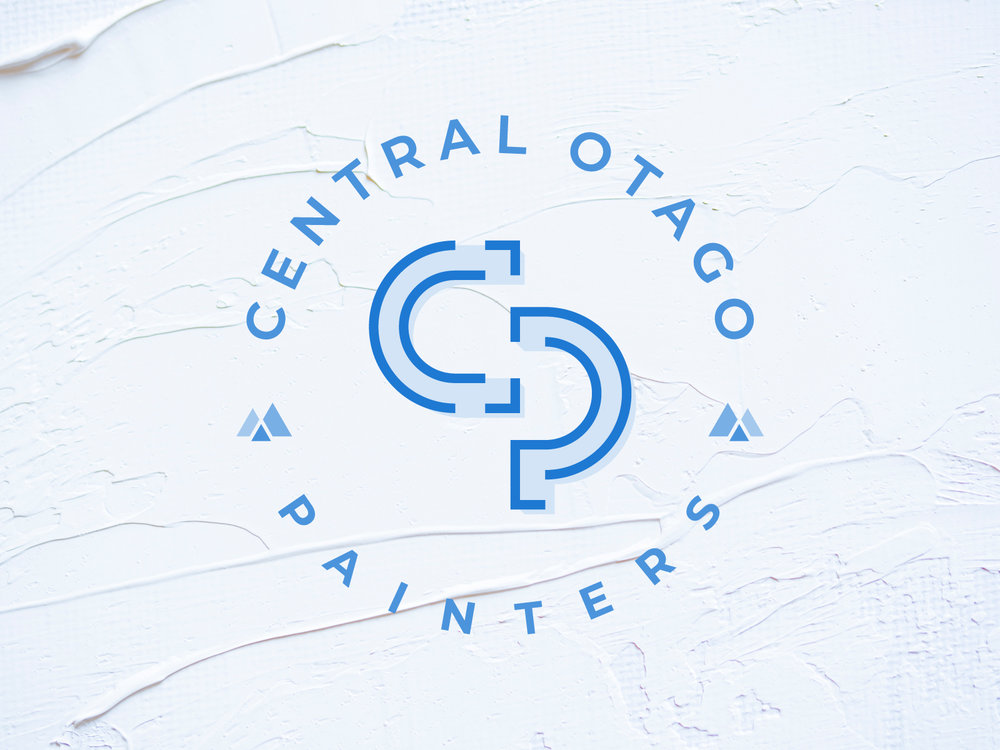 Central Otago Painters - My half brother owns his own painting company in Central Otago (Wanaka, NZ) but recently had another company hijack his name. Because of that he was looking to create a new logo around the monogram CP and somehow incorporate the mountains. This is where we landed after many iterations. See other concepts below.