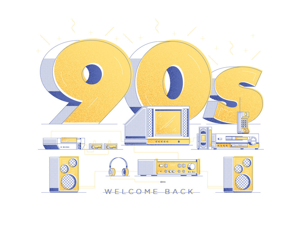 Welcome Back to the 90s - A fun little piece based on my love of the 90s and all the tech I grew up with.