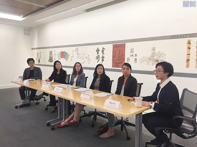 Amy Lee (third from right) at press conference on September 26, 2018 with representatives from the San Francisco Human Services Agency and community organizations to discuss the impact of the Department of Homeland Security's public charge proposal on immigrants in our community.