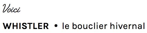 baume Whistler