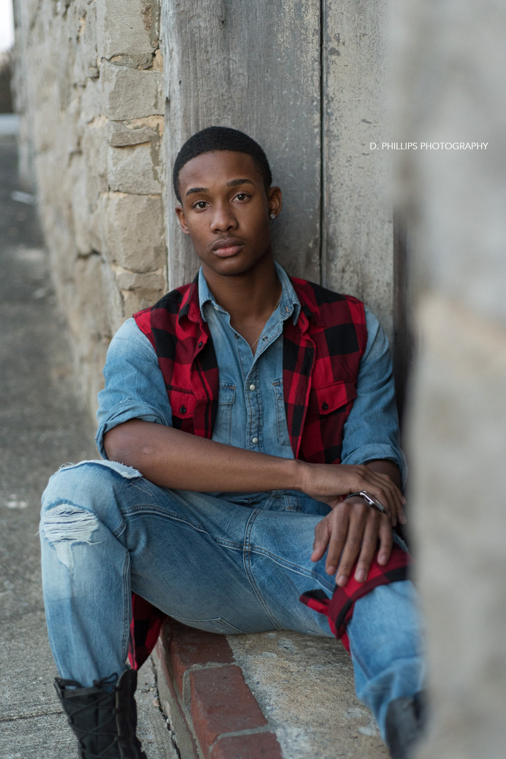 Teen male modeling headshots and portfolio work | D. Phillips Photography