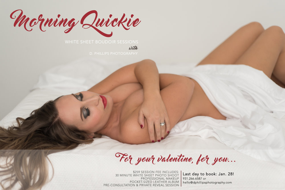 Morning Quickie White Sheet Boudoir Sessions with D. Phillips Photography in Clarksville TN
