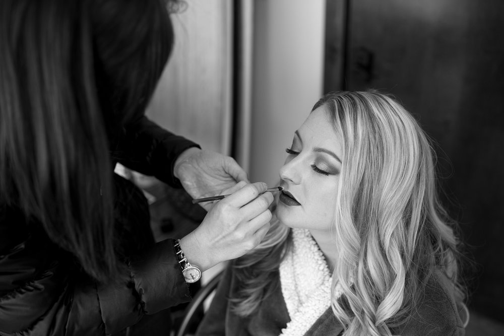 Boudoir hair and make up for D. Phillips Photography in Clarksville Tennessee