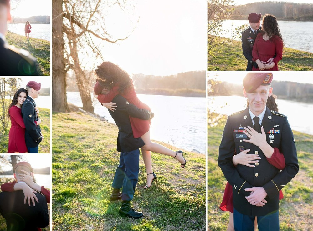 Military Engagement Photos, Fort Campbell KY | www.dphillipsphotography.com