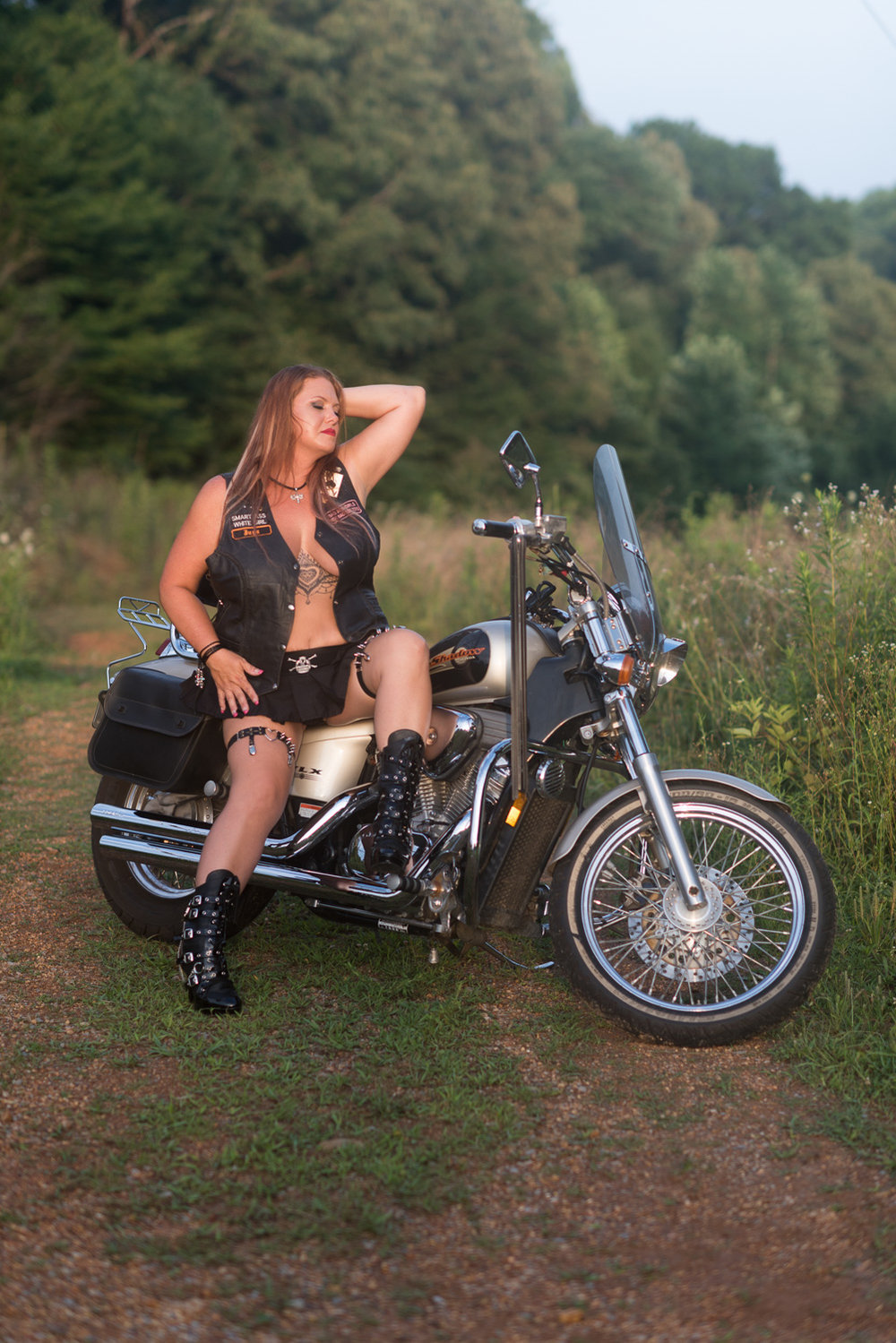 Biker Boudoir in Clarksville Tennessee with D. Phillips Photography