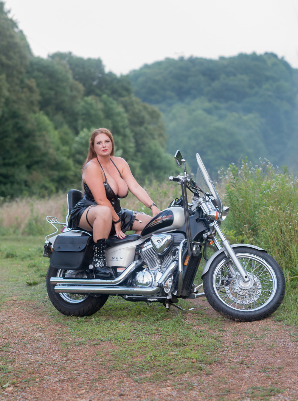 Outdoor Motorcycle Boudoir D. Phillips Photography
