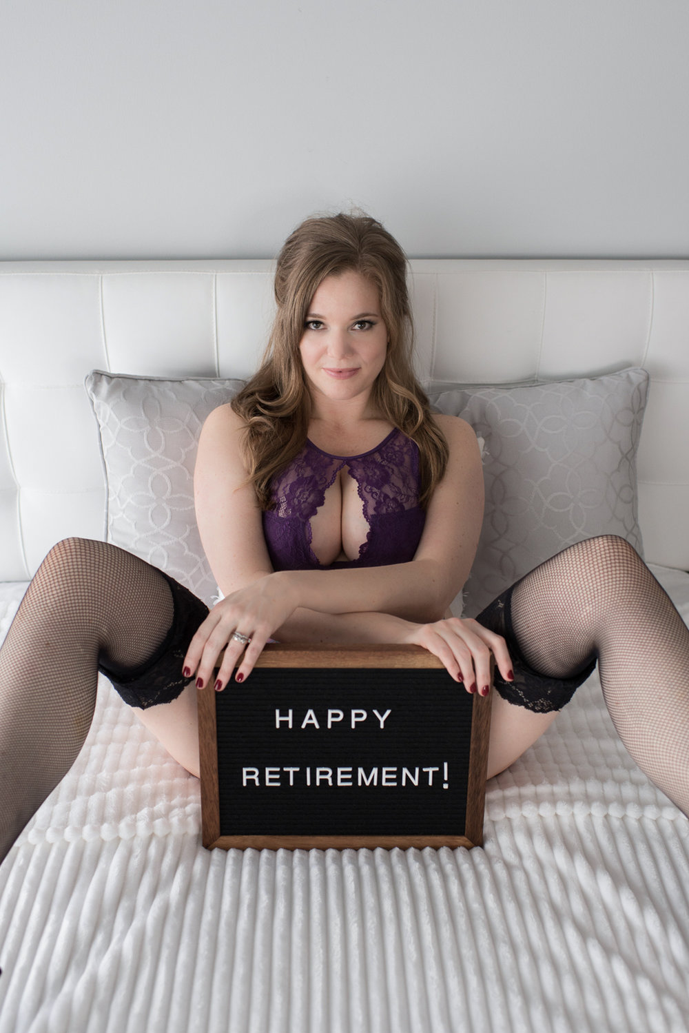 Boudoir gift idea to celebrate retirement