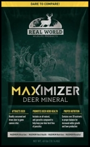 real world maximizer deer mineral in a bag for sale