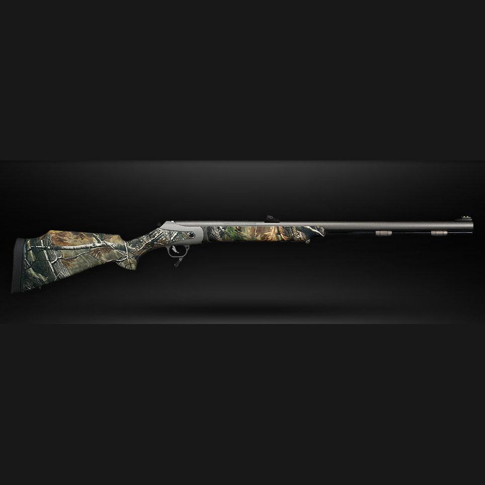 "T/C TRIUMPH®   Model #:  10168503 |  Finish/Stock: Blued/Black Composite | Caliber : .50 | Barrel Length : 28"" | Overall Length : 42.5"" | Capacity : Single Shot  Model #:  10168504 |  Finish/Stock: Weather Shield/AP Camo Barrel | Caliber : .50 | Barrel Length : 28"" | Overall Length : 42.5"" | Capacity : Single Shot  Model #:  10168511 |  Finish/Stock: Weather Shield/Black | Caliber : .50 | Barrel Length : 28"" | Overall Length : 42.5"" | Capacity : Single Shot  Model #:  10168512 |  Finish/Stock: Weather Shield/AP Camo Stock | Caliber : .50 | Barrel Length : 28"" | Overall Length : 42.5"" | Capacity : Single Shot"