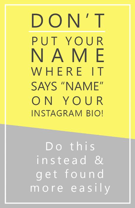 fix your instagram bio for seo