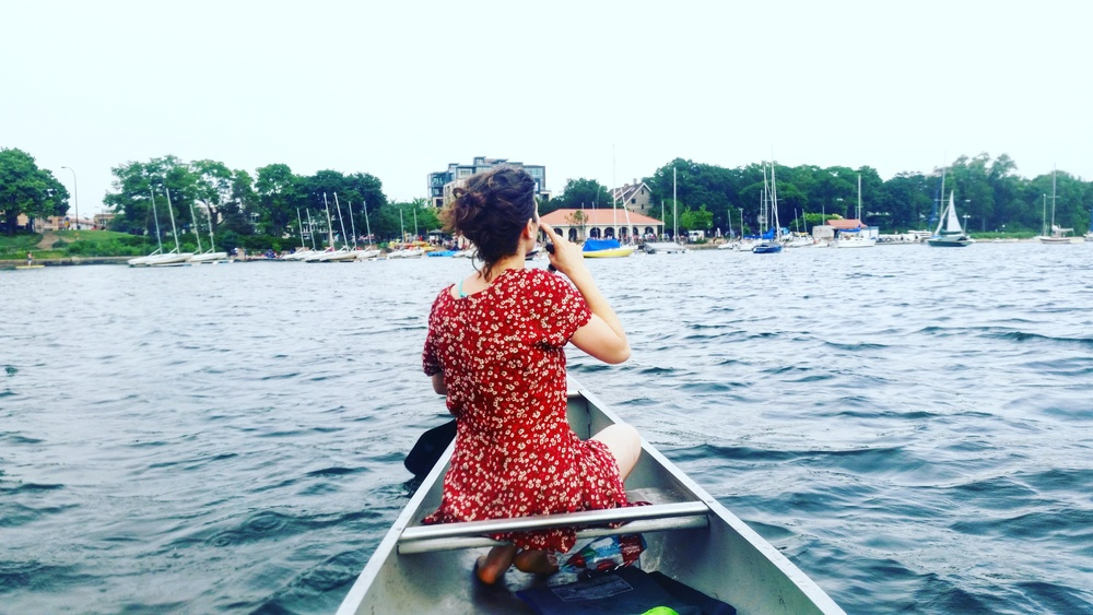 Pictured above: me pretending to be Pocahontas on Lake Calhoun