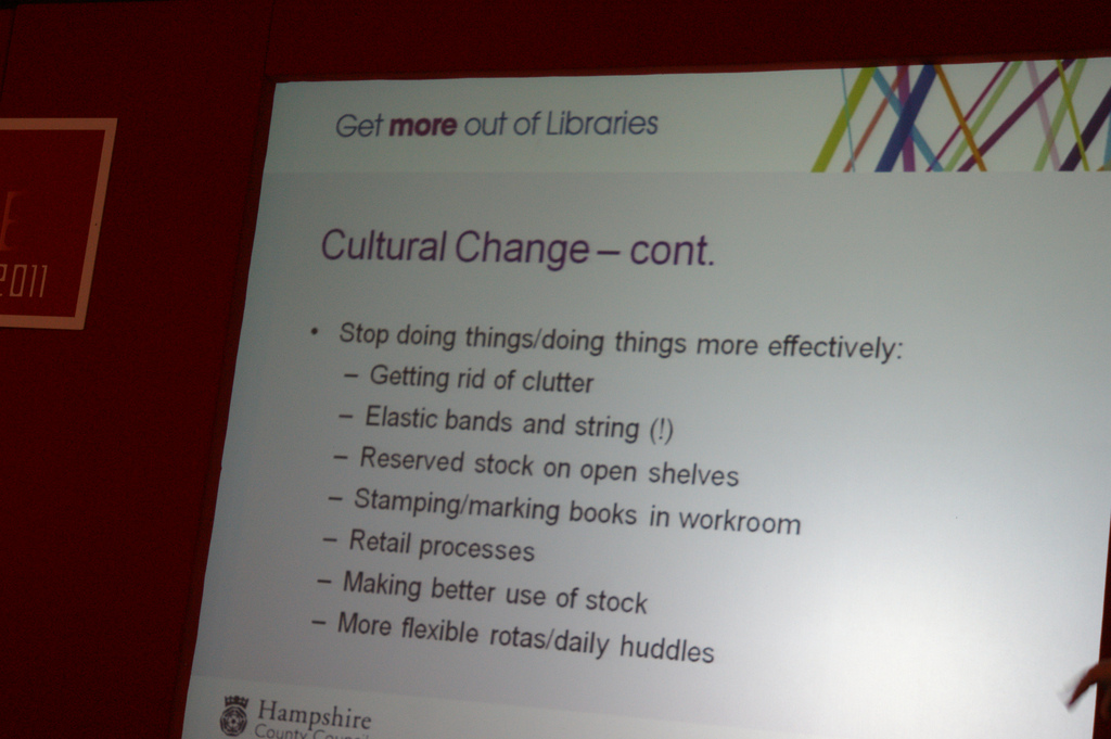 Culture change tips from the library of Hampshire
