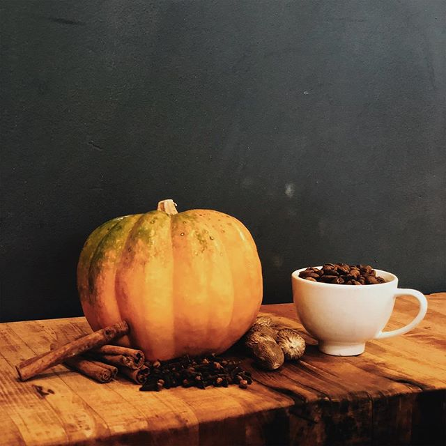 PSL Announcement :  No pumpkins were harmed in the capturing of this photo. We cannot say the same for our homemade pumpkin spice syrup... #pumpkinspice #homemade #pumpkin #realpumpkin  #clove #nutmeg #cinnamon #organiccanesugar #fallvibes