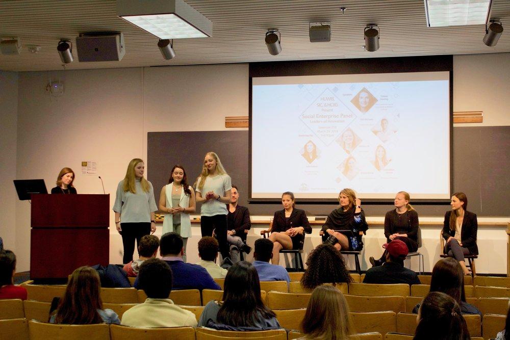 Social Enterprise Panel: Leaders of Innovation - Harvard Undergraduate Women in Business | By Julia Bunte-Mein