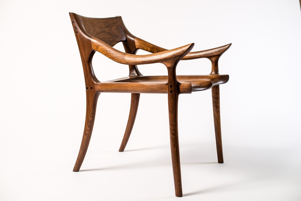 Maloof Inspired Low-Back Dining Chair