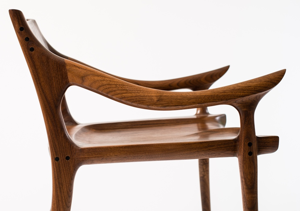 Maloof Inspired Low Back Dining Chair