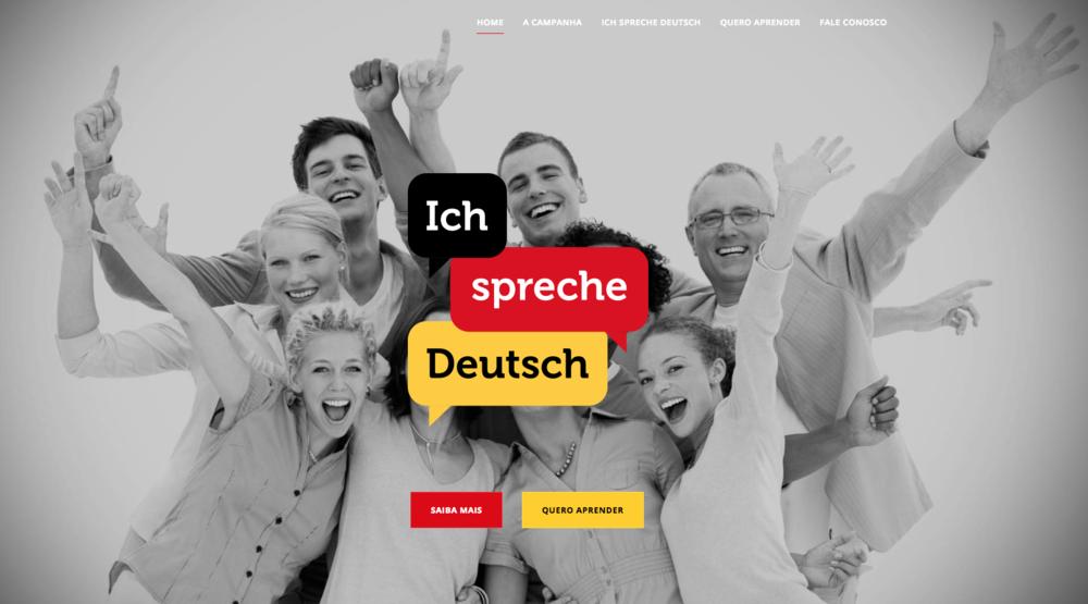 """Website da campanha """"Eu falo alemão""""."""