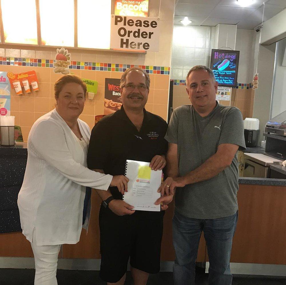 Natalie Miller, Chef Bill Pratt, and Robert Miller