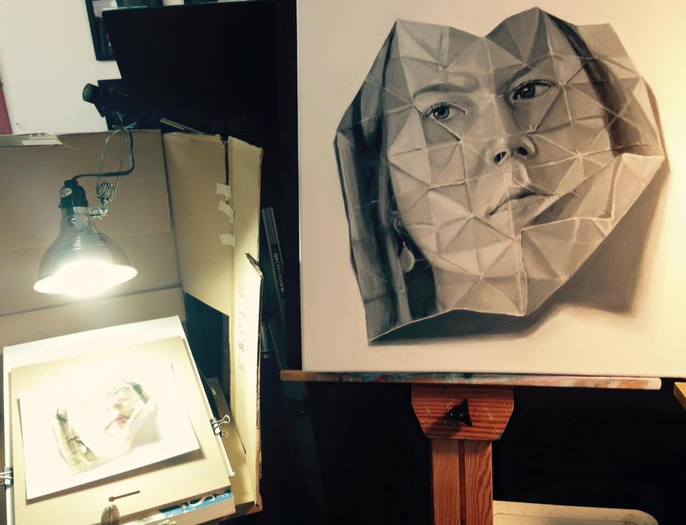 Still life setup and painting for Origami I