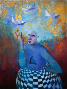 """Manifestation"", Angela Alés, Oil on canvas, 48""x36"" (2014)"